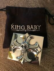"""King Baby Studio Sterling 925 """"day Of The Dead"""" Buckle Rare Limited 1,750"""