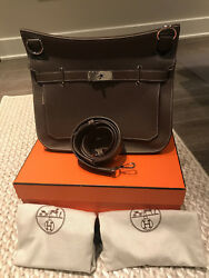 HERMES JYPSIERE ETOUPE TOGO LEATHER NEW IN BOX