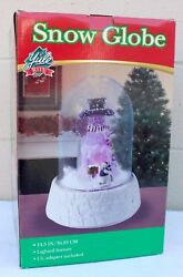 Yule Rite Christmas Animated Musical Lighted Snow Globe 14 1/2 Tall New