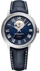 Raymond Weil Maestro Automatic Menand039s Leather Watch 2227-stc-00508