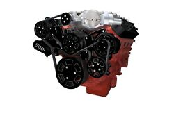 Black Diamond Chevy Lsa And Ls9 Serpentine Kit - Ac And Power Steering