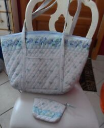 Vera Bradley Miller bag and small cosmetic in retired Watercolor pattern