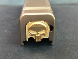 Fit Glock G43 Only Rear Slide Cover Plate 100 Brass 3d Punisher +