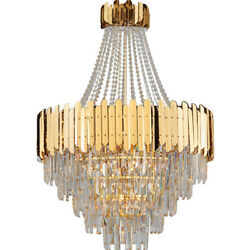 Modern Creative K9 Clear Crystal Chandelier Villa Stairs Lighting Fixture329