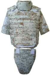 Snow Drift Full Body Armor Plate Carrier Molle Tactical Vest Iiia Kevlarr Incl