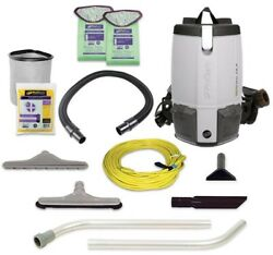 ProTeam ProVac FS 6 6 qt. Backpack Vac Vacuums Home Cleaner Restaurant Tool Kit