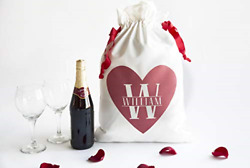 Personalized Bachelorette Party Favor Bag with Drawstring - Bridesmaid Makeup or