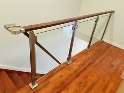Modern Square Stairs Balcony Railing Kit - Glass Not Included