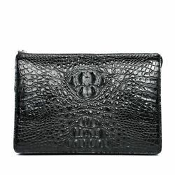 Men's Luxury Handbags Fashion Real Crocodile Design Casual Leather Clutch Bags