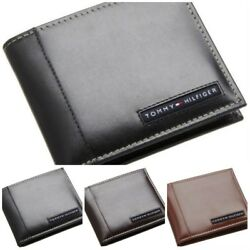 Tommy Hilfiger Men's Leather Credit Card Wallet Billfold Bifold Wholesale