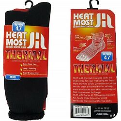 Mens Heated Thermo Sox Insulated Socks  4.7 Tog Rating And Ski Fur Lined