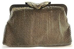 Womens evening clutches metal mesh Party Prom Wedding Banquet Purse Bag