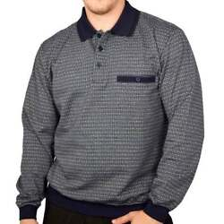New W/ Tags Classics By Palmland Long Sleeve Banded Bottom Shirt - Classic Navy