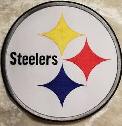 Pittsburgh Steelers Huge 8 Iron/sew On Jacket Size Embroidered Patch