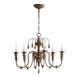 Quorum 6316 Salento Chandelier French Shabby Chic Farmhouse Candle New