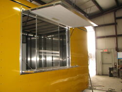 36 T X 84 W Enclosed Trailer, Truck, Concession Window And Screens In White