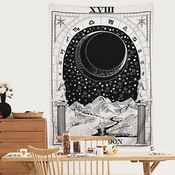 The Moon Tapestry Medieval Europe Divination Art Tapestry Wall Hanging Decor USA