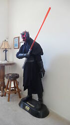 Star Wars Lifesize DARTH MAUL Statue w Full Light Saber
