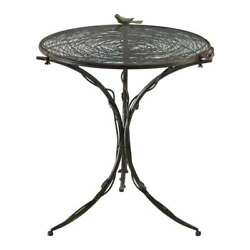Anthropologie Farmhouse Cottage Chic Small Bistro Dining Table Iron And Glass