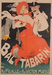 Original Vintage French Poster Ball Tabarin By Grun 1904