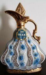 Vintage 1970 Empty Jim Beam Whiskey Decanter Weeping Gold With Storage Box