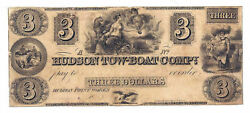18xx Hudson Tow-boat Compy., Ny Three Dollar Obsolete Remainder Note Rare - H100