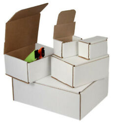 100 - 8 X 4 X 2 White Corrugated Shipping Mailer Packing Box Boxes
