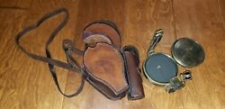 Ww2 Japanese Army ● Extremely Rare Lensatic Compass ● W/ Leather Case