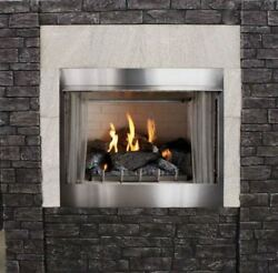 Outdoor Traditional 42 Premium Mv Fireplace With Log Set Ng