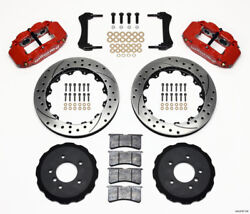 Wilwood Narrow Superlite 6r Front Hat Kit 13.06in Drilled Red E36 For Bmw M3 - W