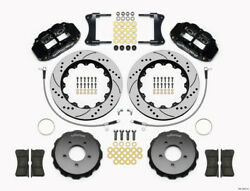 Wilwood Narrow Superlite 6R Front Hat Kit 14.00in Drilled 2005-Up for Mazda Miat