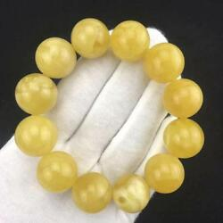 Royal Milky amber (beeswax amber bracelet 20mm ball