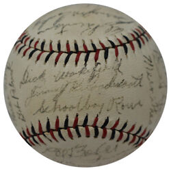 The Finest 1942 Detroit Tigers Team Signed Baseball 30 Signatures With Jsa Coa