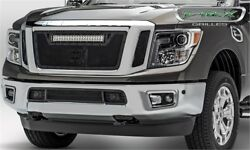 T-Rex Grilles 6317851-BR for Nissan Titan- StealthTorch Series- Led Light 20 in