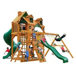 NEW Gorilla Playsets Great Skye I with Malibu Roof & Amber Posts Swing Set