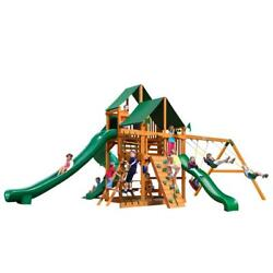 NEW Gorilla Playsets Great Skye II W Amber Posts and Standard Roof Swing Set