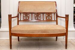 Antique Carved Mahogany Settee 92549