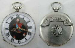 Antique Imperial Russian Officer Silver Pocket Watch 1878 Russo-turkish War