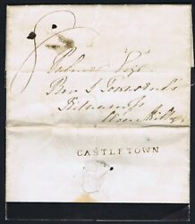 Irish Ph 1839 Very Fine Castletown Straightline With Contents Mourning Letter