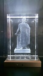 3D LASER ENGRAVED CRYSTAL GLASS ACHIENT GREECE