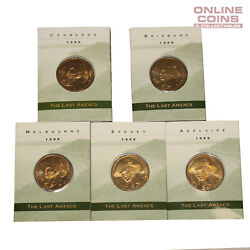 1999 Ram The Last Anzacs 1 Uncirculated Coin C,s,m,b And A Mint Mark Set - Folded