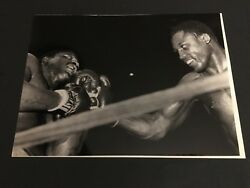 1968 Joe Frazier Vs Mathis Punch To The Jaw 1968 Original Type One Photo