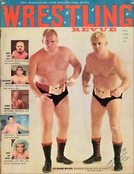 1959 Wrestling Revue Rare First Issue With The Graham Brothers Covers