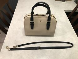 Kate Spade Spring Black Ivory White Purse Pre-owned Mint Condition