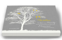 Personalized Canvas Family Tree Memories To Treasure Quote Wedding Wall Art Gift