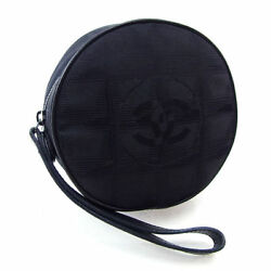 CHANEL pouch makeup bag strap New Travel line Y2374s.