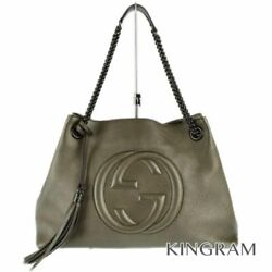 GUCCI Soho chain shoulder tote 308982 leather bag rhr
