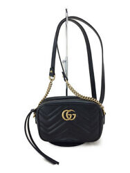 GUCCI mini shoulder bag quilted leather GG Marmont 448065DRW1T1000 box Yes