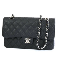 S CHANEL Matorasse 25 W flap chain shoulder bag caviar skin 20180709MK