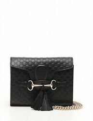 GUCCI island chain mini shoulder bag leather 449636